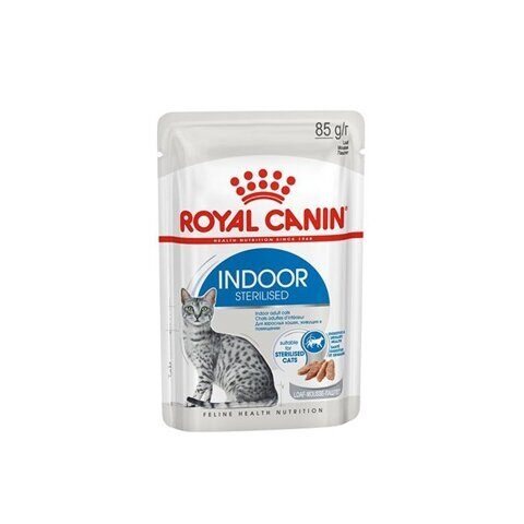 Royal Canin Indoor влажный корм для кошек, живущих в помещении, паштет, 85 г